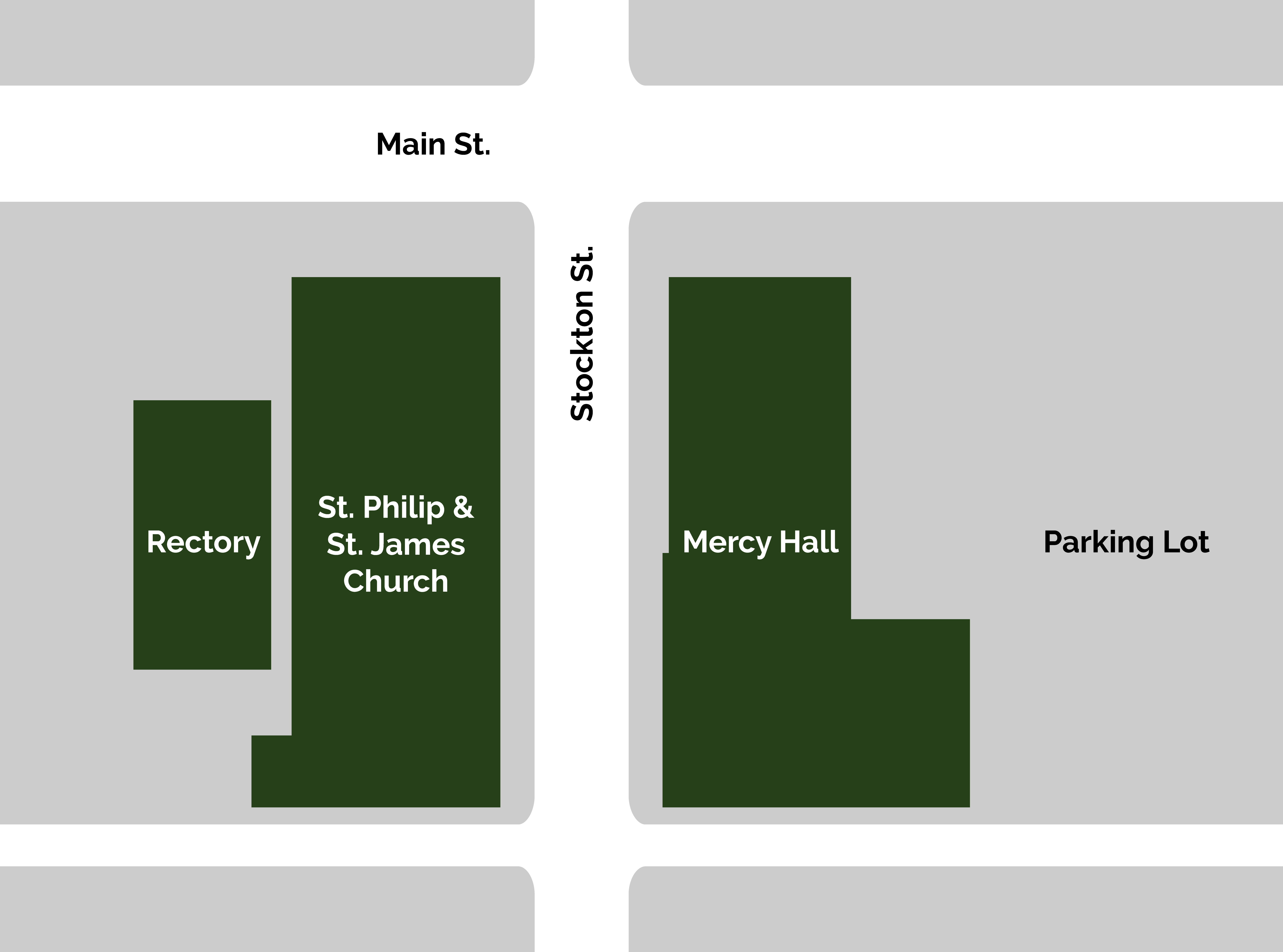 map of Saint Philip and Saint James Church